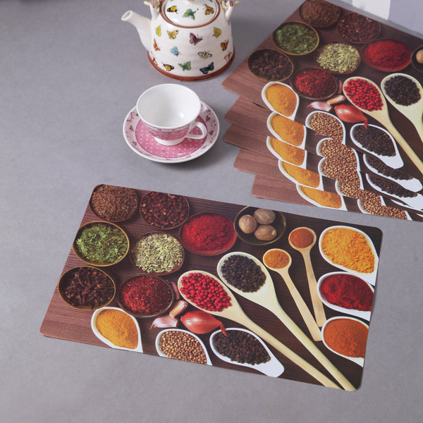 Spoons And Spices Table Mats (Set Of 6)
