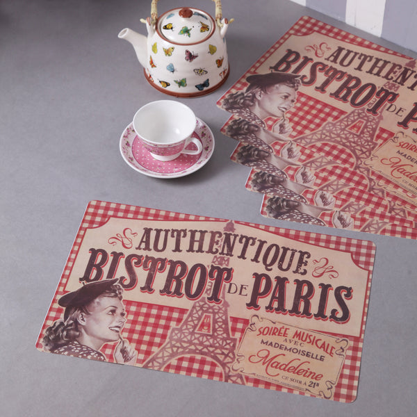 Vintage Paris Deli table mats (Set of 6)