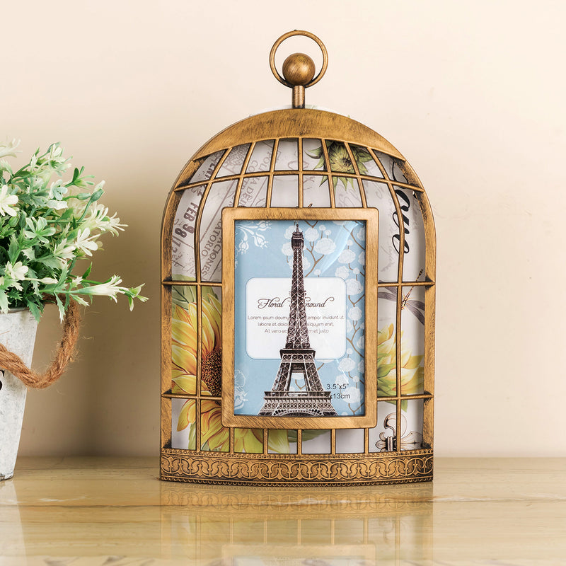 Copper Cage Photo Frame