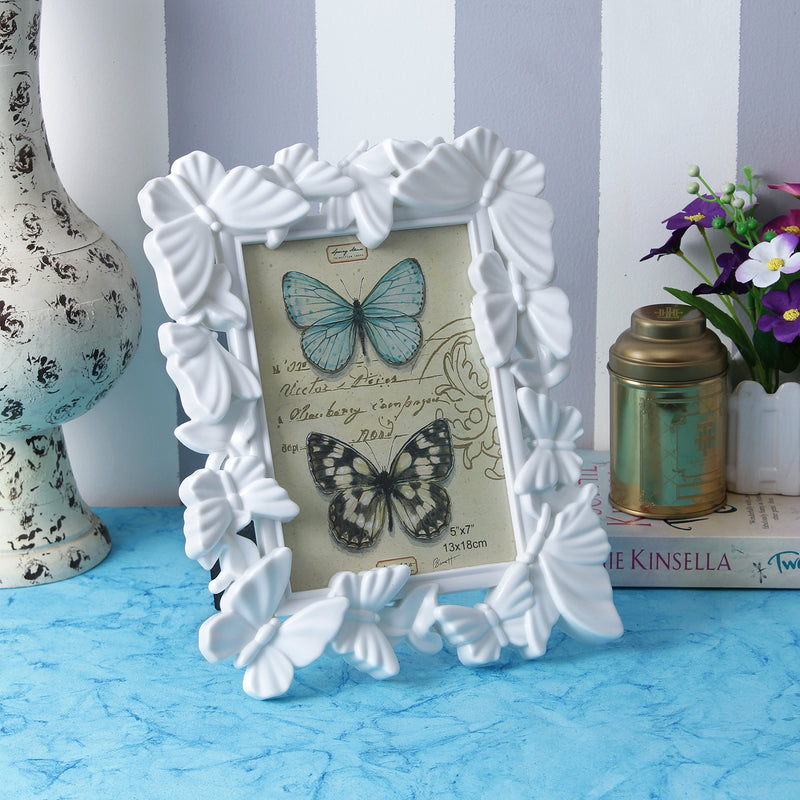 Butterfly Photo Frame - White