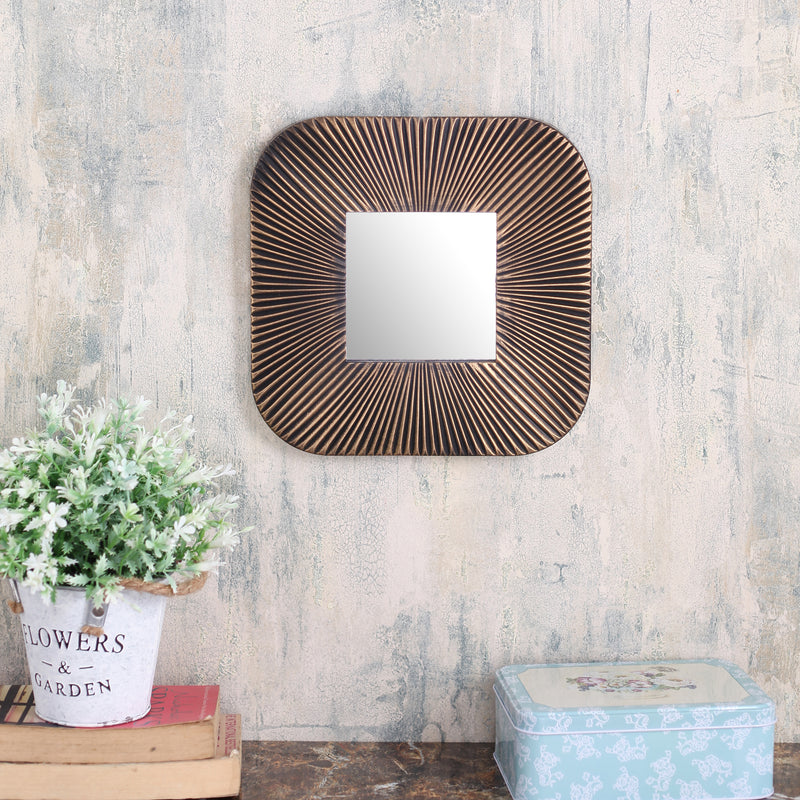 Square Copper Lined Mirror