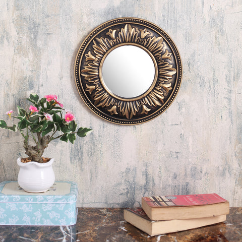 Round Royal border copper  mirror