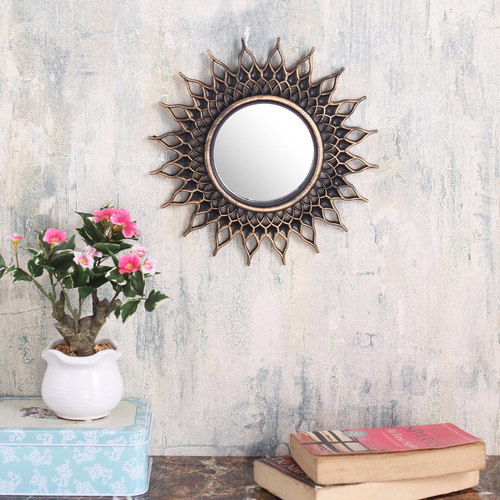 Antique Copper Spikes Mirror