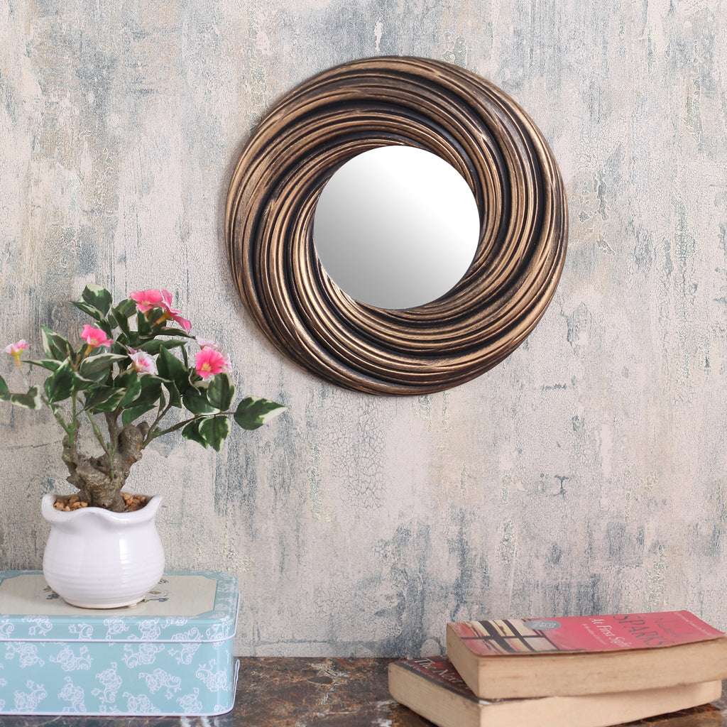 Copper Round Lined Classic Mirror