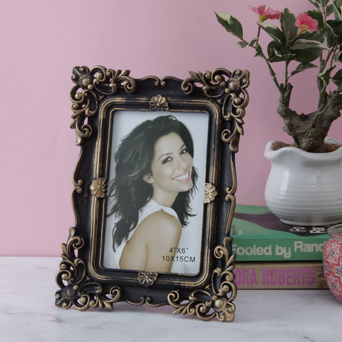 Antique Bordered Photo Frame - Copper