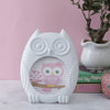 White Owl Round Photo Frame