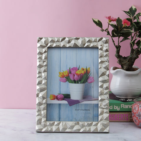 Mosaic Pattern Bordered Photo Frame