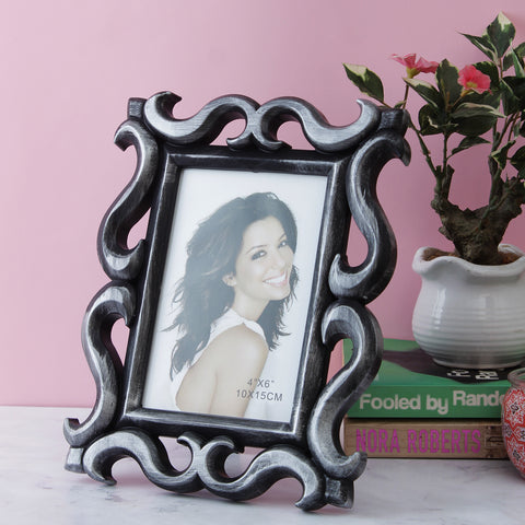 Victorian Border Photo Frame - Silver