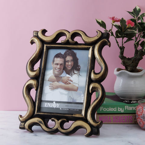 Victorian Border Photo Frame - Copper