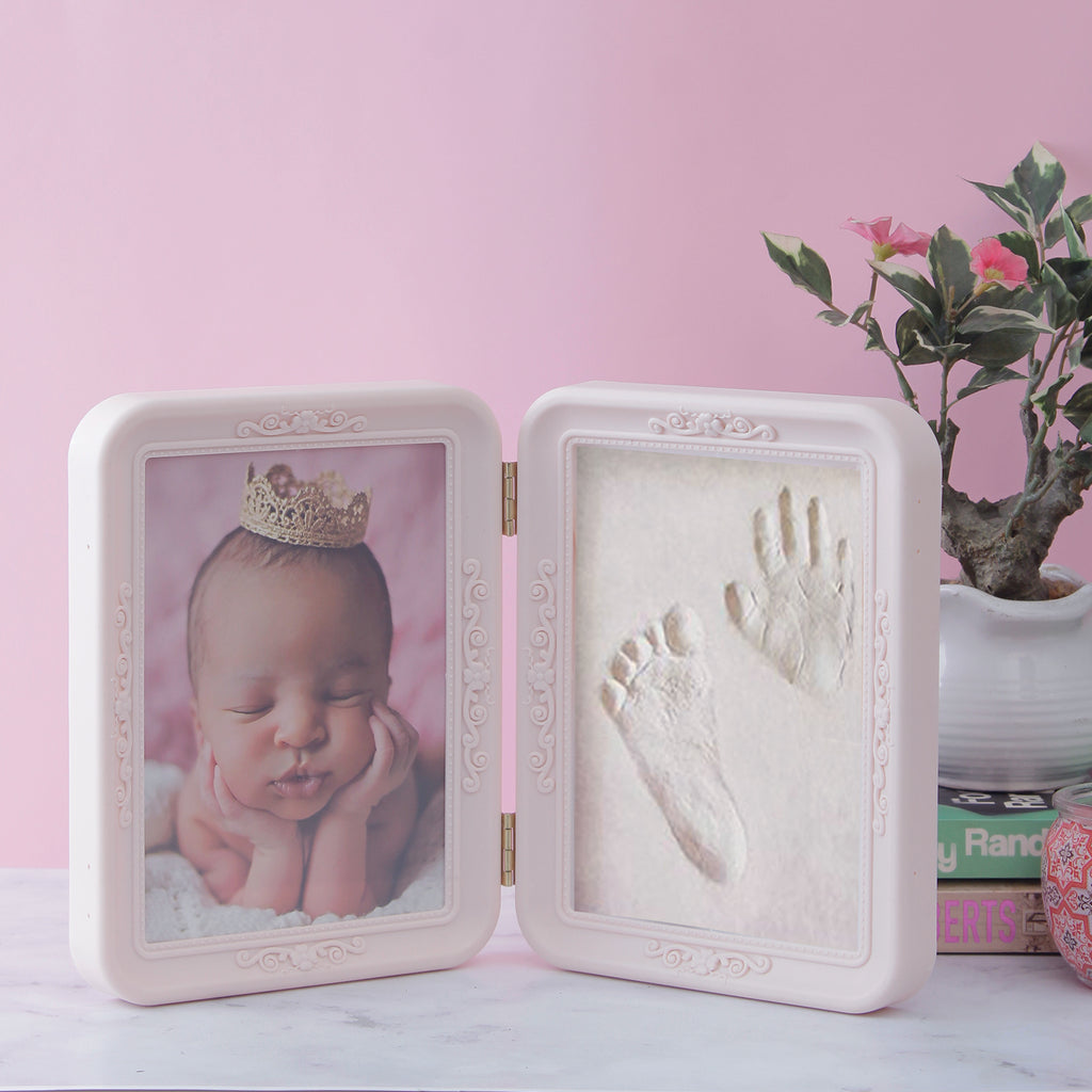 Newborn Baby Photo & Mould Frame Gift Set - Pink