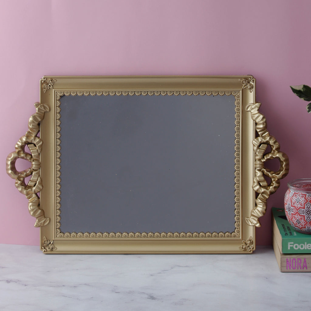 Antique Decorative Mirror Tray