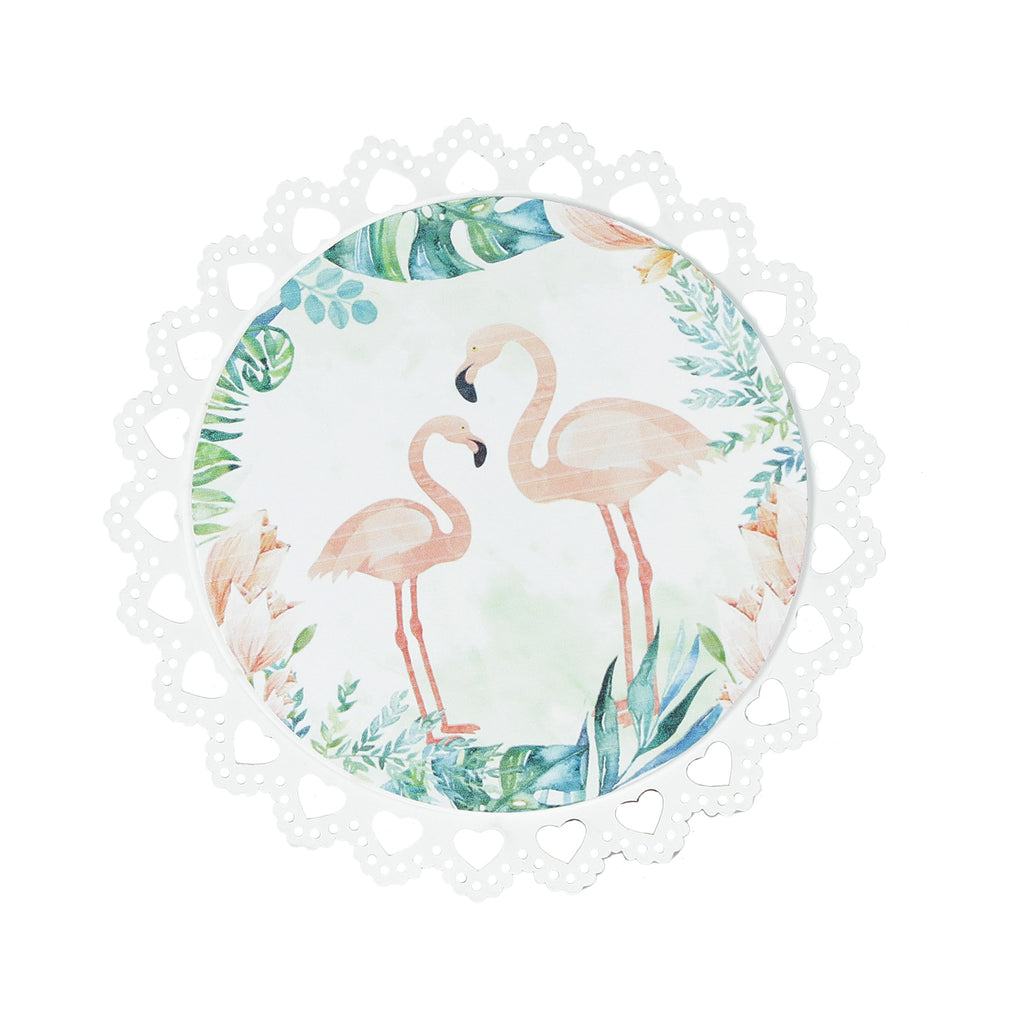 Beautiful Jungle Flamingo Trivets / Hot Plates