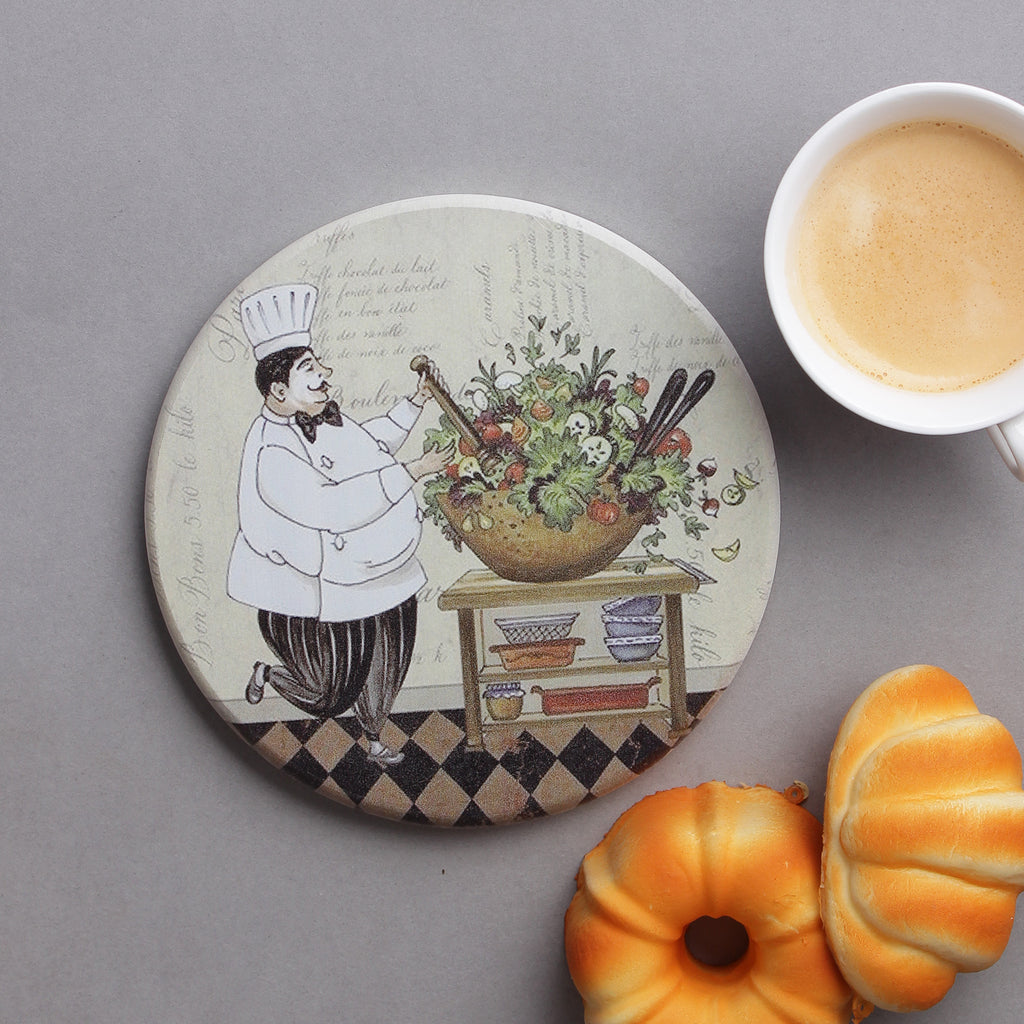 Large Round Fat Chef Hotplate/ Trivet