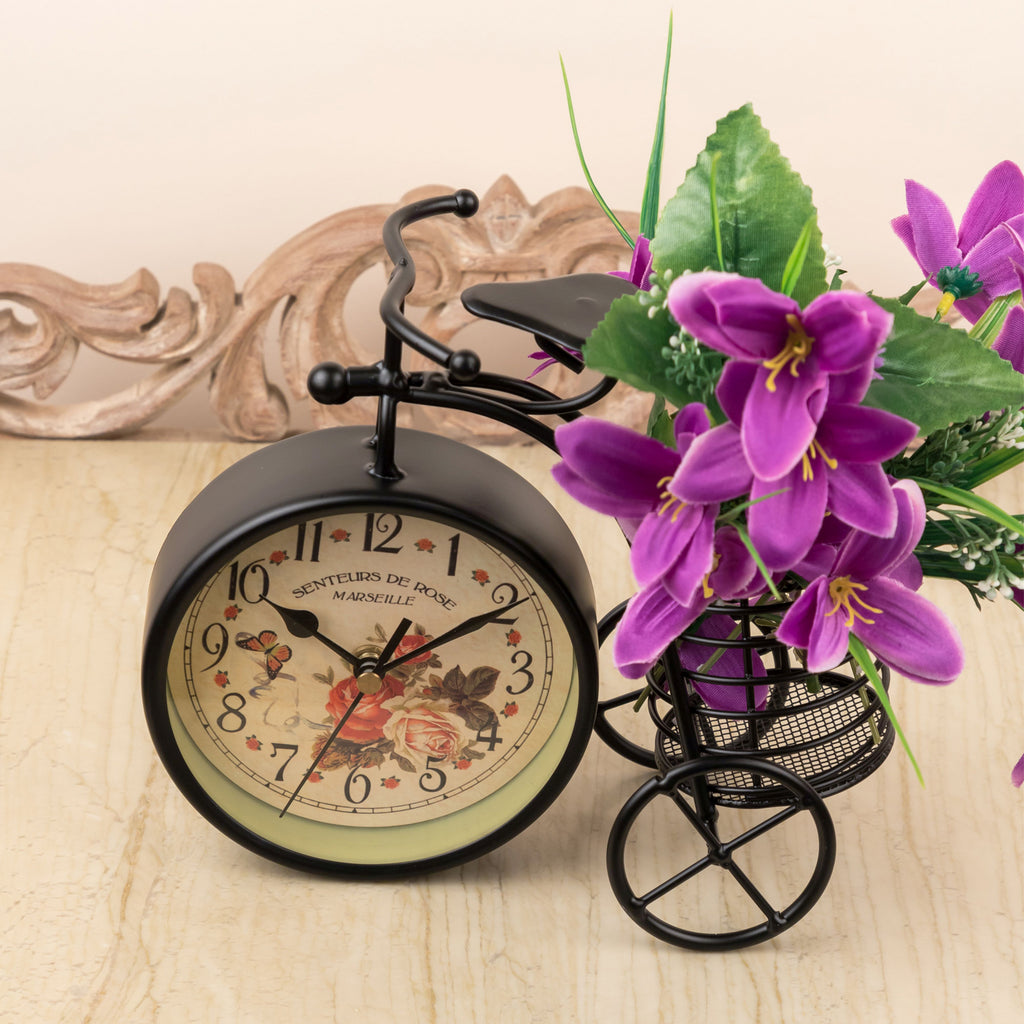 Black Vintage Bicycle Clock