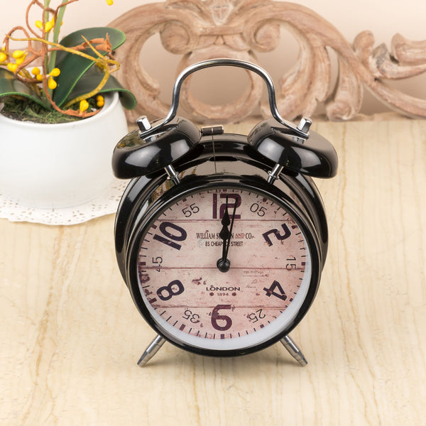 Black Retro Table Clock