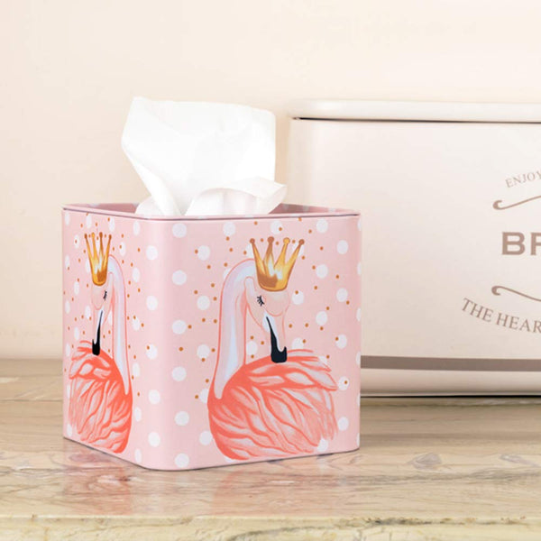 Flamingo Square Tissue Box