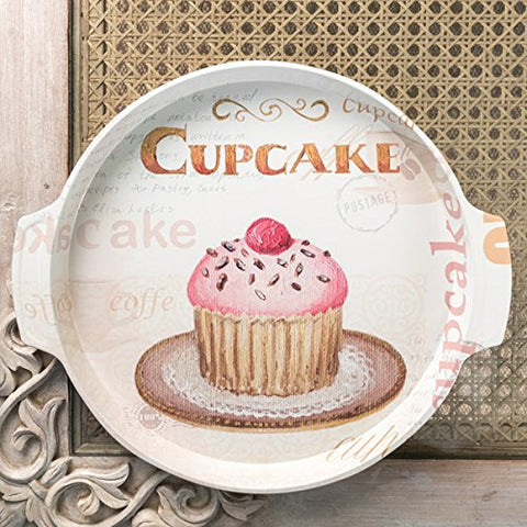 Cupcake Metal Tin Tray