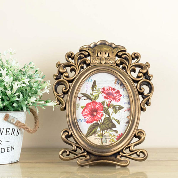 Gold English Photo Frame
