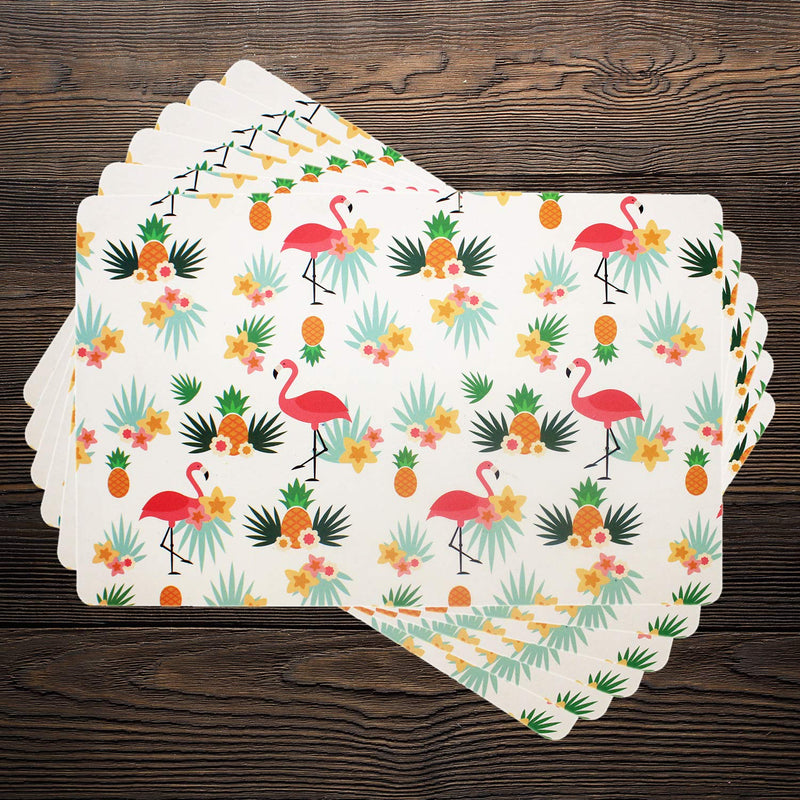 Pink Flamingoes With Pineapples Table Mats( Set Of 6)