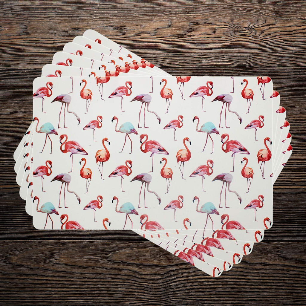 Pink Flamingoes Table Mats (Set Of 6)