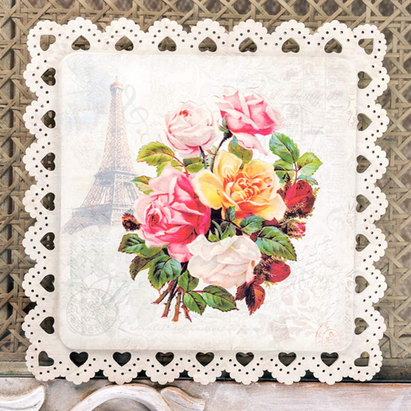 Flower Bouquet Square Trivet
