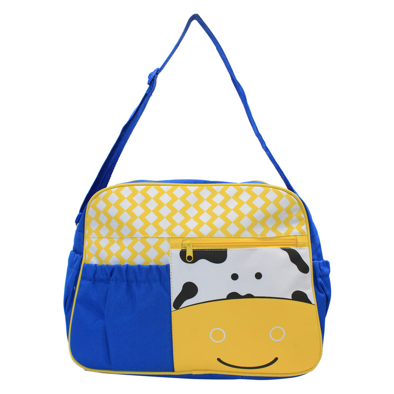 Blue/Yellow Mama's Bag, Baby Carrier Bag, Diaper Bag, Travelling Bag with changing mat