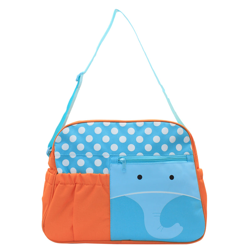 Orange/Blue Mama's Bag, Baby Carrier Bag, Diaper Bag, Travelling Bag with changing mat