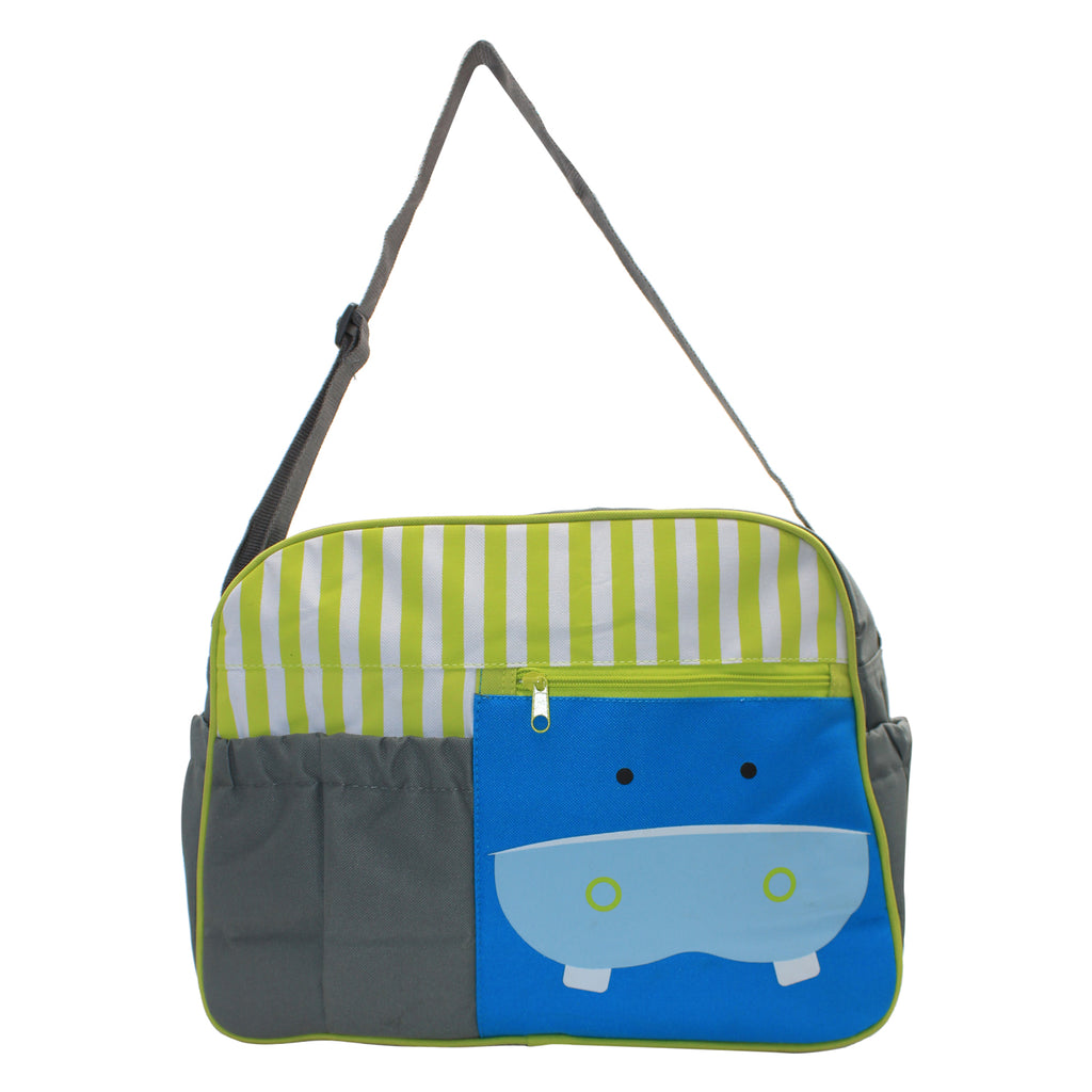 Green/Grey Mama's Bag, Baby Carrier Bag, Diaper Bag, Travelling Bag with changing mat