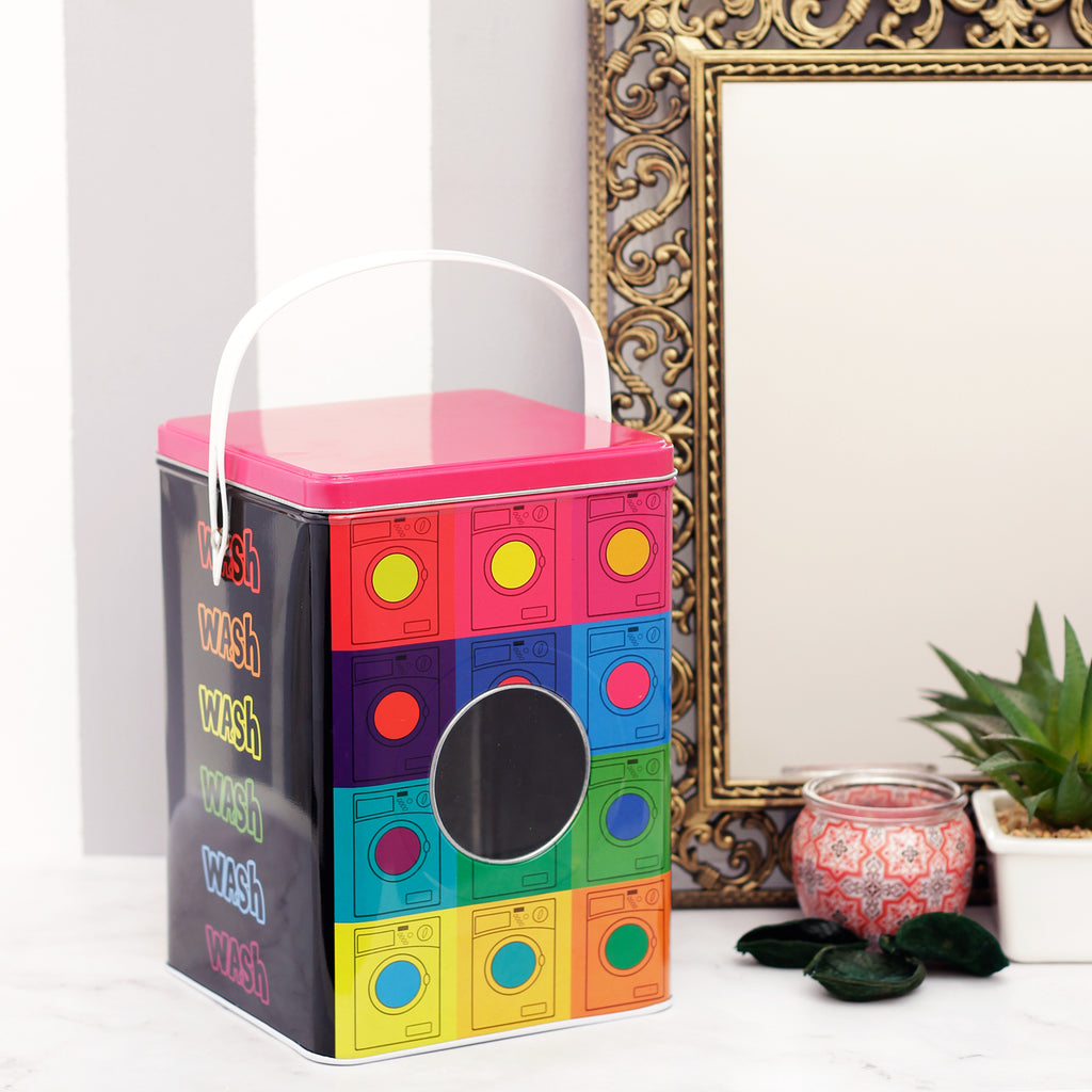 Multicolour Dotted Detergent Powder Storage Box