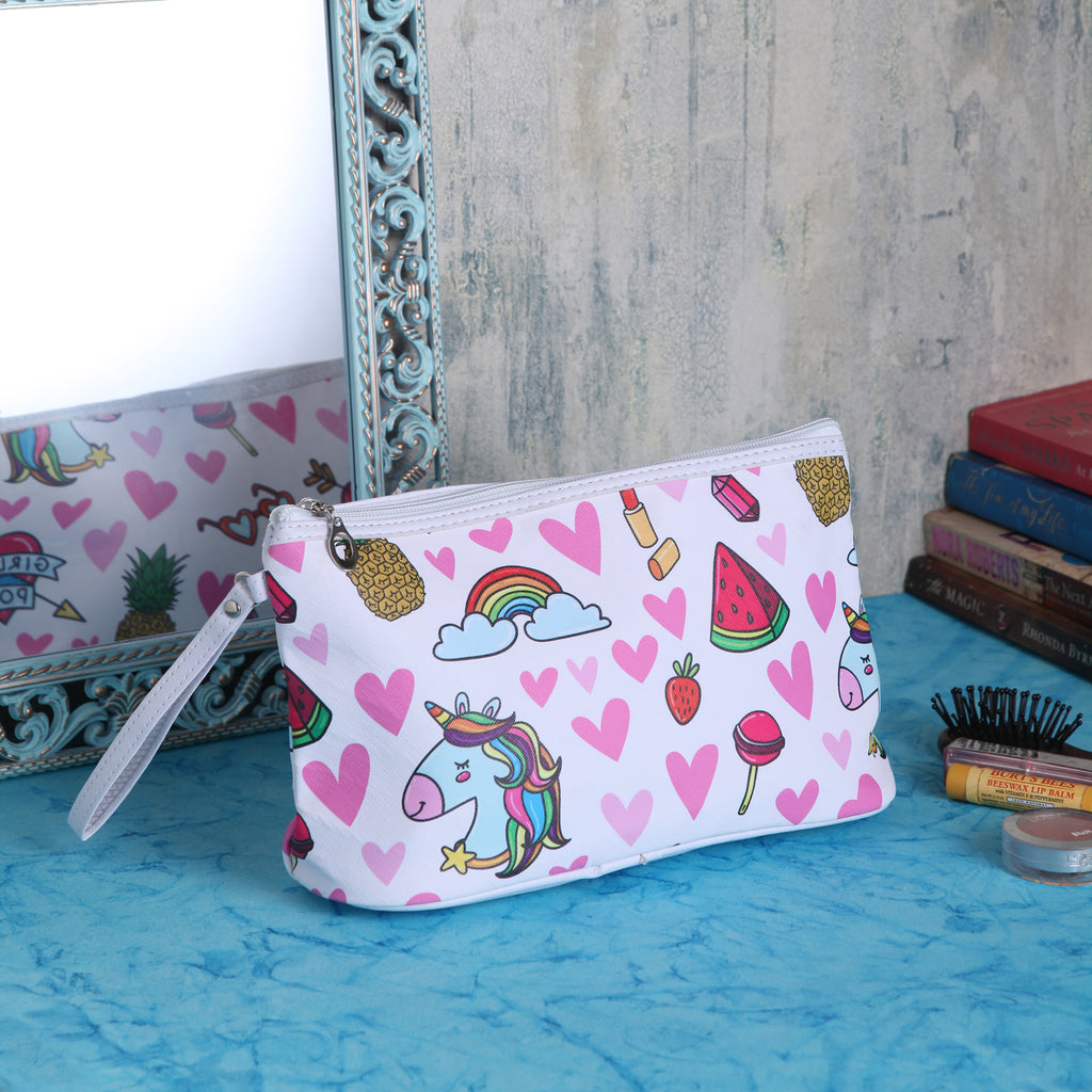 Pineapple And Watermelon Cosmetic Multipurpose Pouch