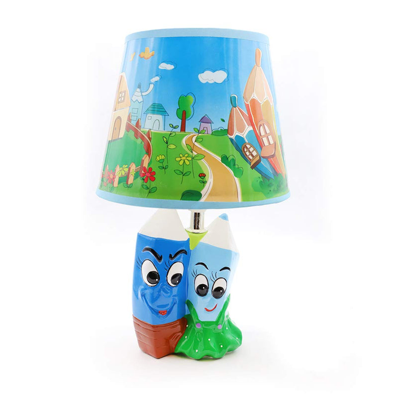 Green and Blue Pencil Lamp