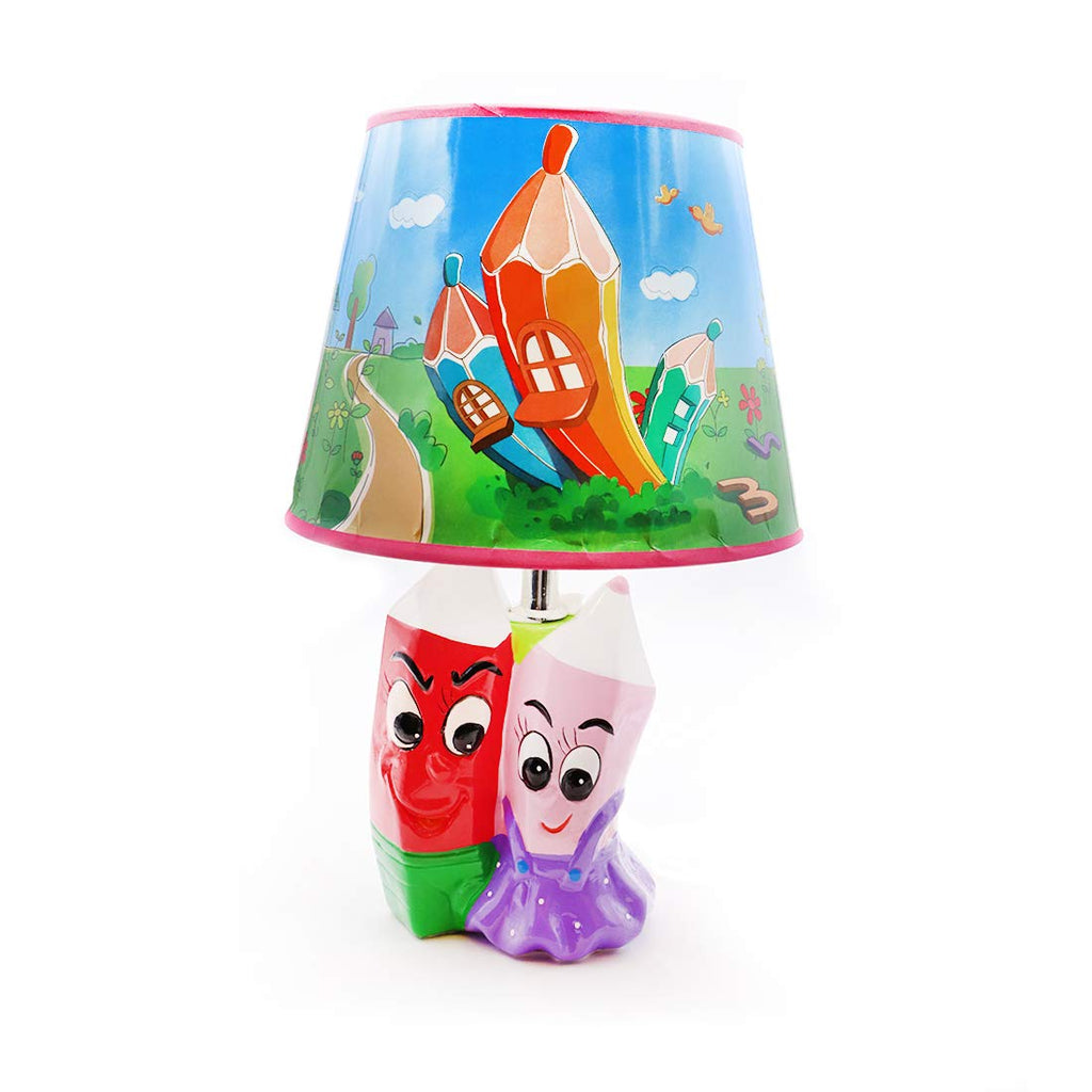 Pink and Purple Pencil Lamp