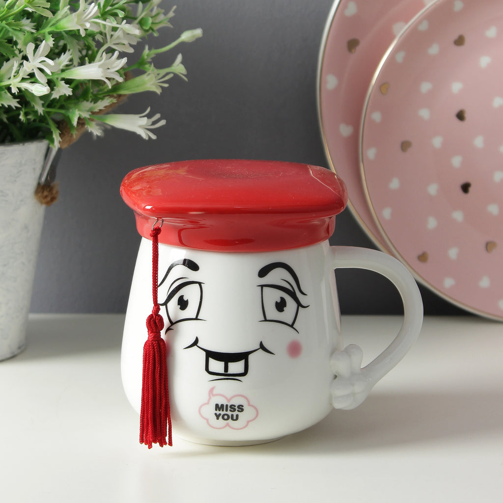 Graduation Cap Lid Mug - Red
