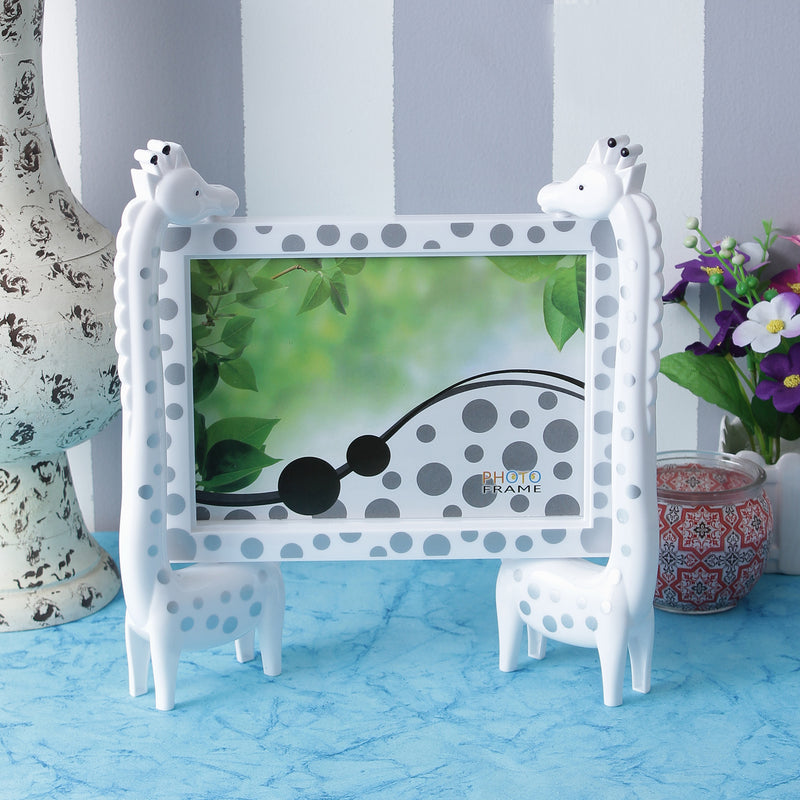 Giraffes Photo Frame - White