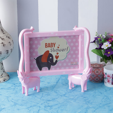 Elephants Photo Frame - Pink