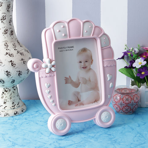 Baby Carriage Photo Frame - Pink