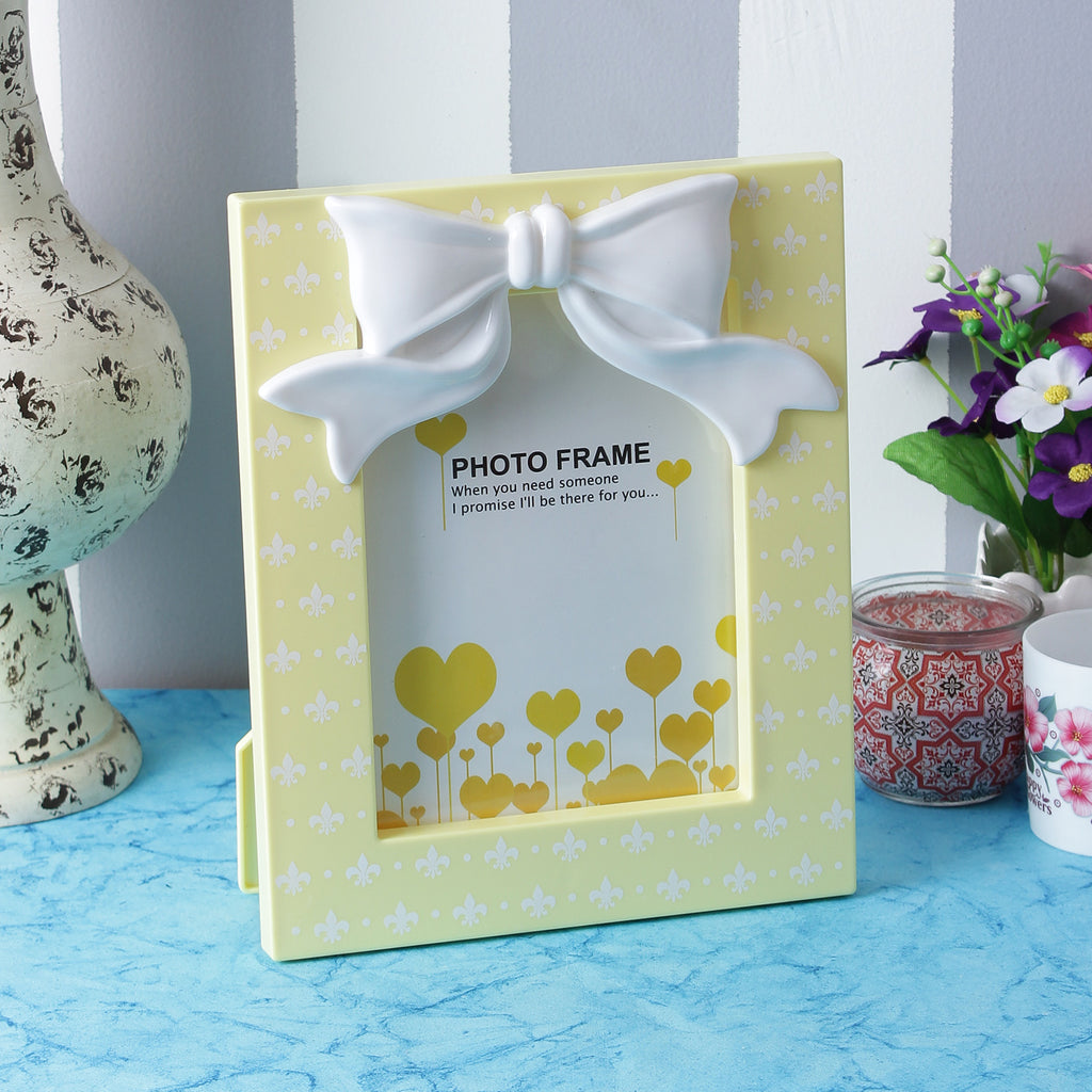 Cute Bow Photo Frame - Yellow