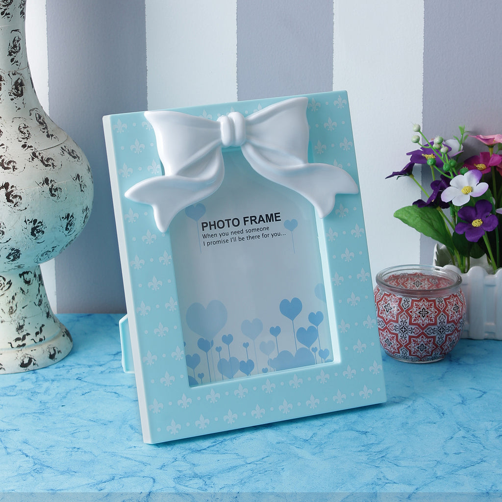 Cute Bow Photo Frame - Blue