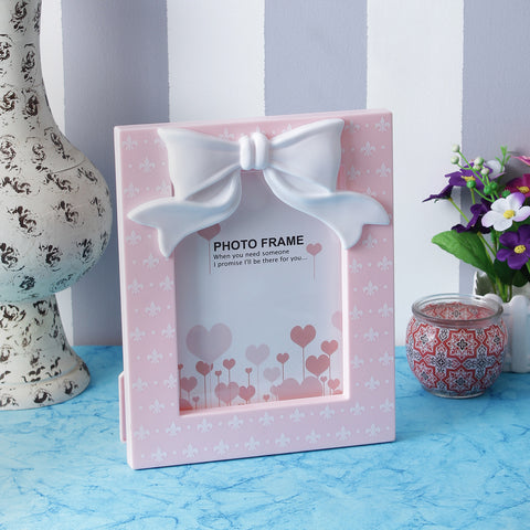 Cute Bow Photo Frame - Pink