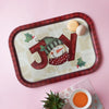 White Snowman Joy Tray