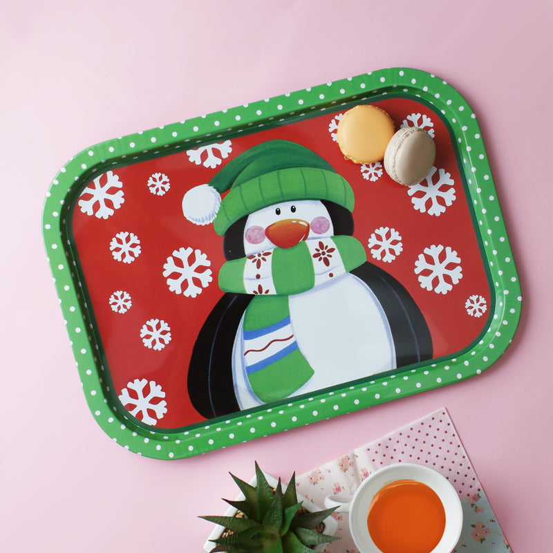 Red Snowman Tray