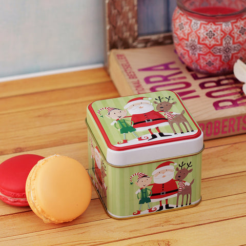 Santa & Reindeer Small Trinket Box