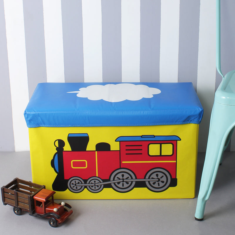 Red Train Foldable Storage Box