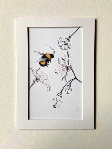 Bee Illustration Print