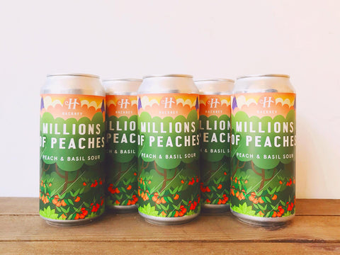 Hackney Millions of Peaches peach and basil sour beer