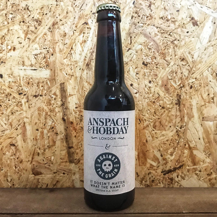 Anspach & Hobday x Against The Grain It Doesn't Matter What The Name Is Speyside Barrel Aged Stout 8.6% (330ml)