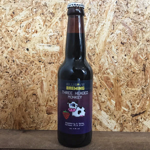 Elusive Three Headed Monkey Raspberry & Honey Oatmeal Stout 4.8% (330ml)
