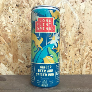 Longflint Ginger Beer and Spiced Rum 5.2% (250ml)