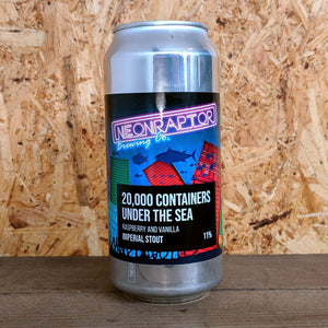 Neon Raptor 20,000 Containers Under The Sea Raspberry and Vanilla Stout 11% (440ml)