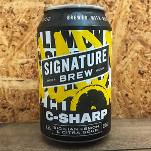 Signature Brew C-Sharp Lemon Sour 4.5% (330ml)